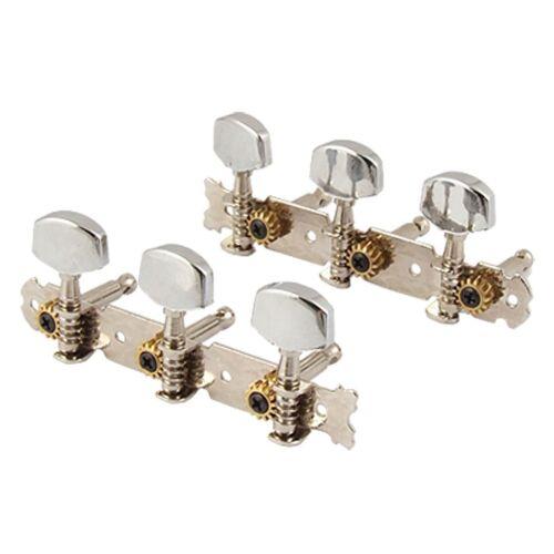 Silver Tone Metal Guitar Head Tuning Keys Peg 2 Pcs ED