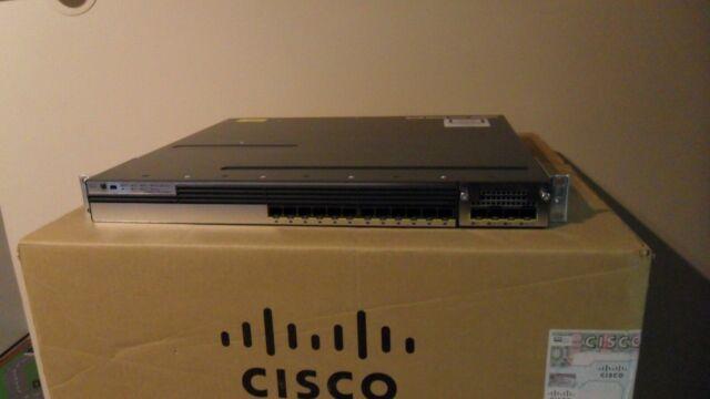 CISCO WS-C3750X-12S-S 12 SFP Port Gigabit Layer 3 Switch ios-15.0-tar C3KX-NM-1G