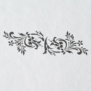 Wall stencils border stencil pattern 083 reusable template - Border stencils for painting ...