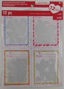 Creatology-Valentine-039-s-Day-Scratcher-Exchange-Card-Kit-12-Cards-New