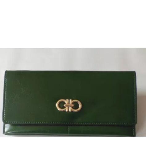NUOVA Donna Women Leather Zipper Coin Card Portafoglio Lungo Frizione Borsa Borsetta Bag