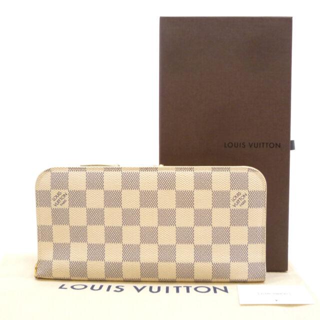 6edabf056e44 Auth LOUIS VUITTON Portefeuille Insolite Long Wallet Damier Azur N63072   S202128