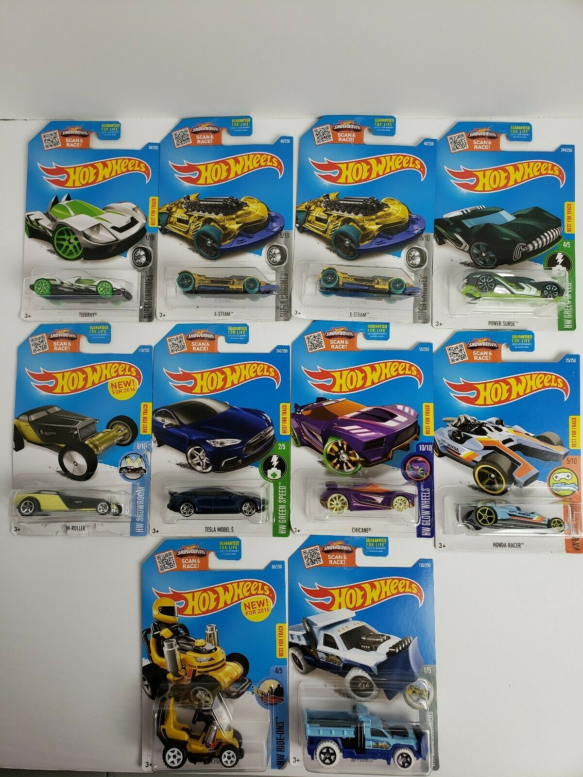 Hot Wheels Showdown Scan & Race  lot of 10