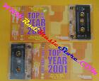 2 MC COMPILATION TOP OF THE YEAR 2001 Ligabue Pelù 883 Oasis Pooh Nek no cd lp