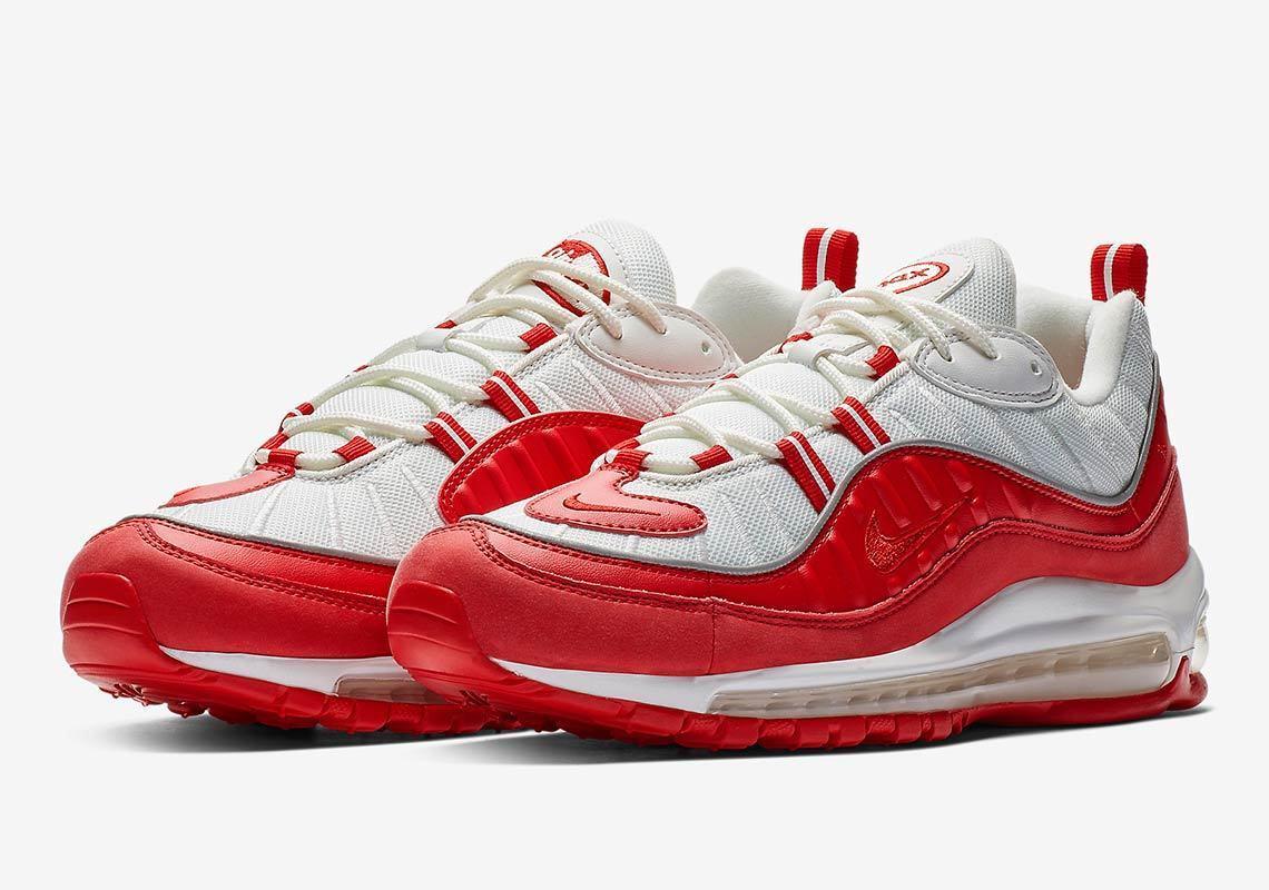 (640744-602} Men's Nike Air Max 98 University Red NEW