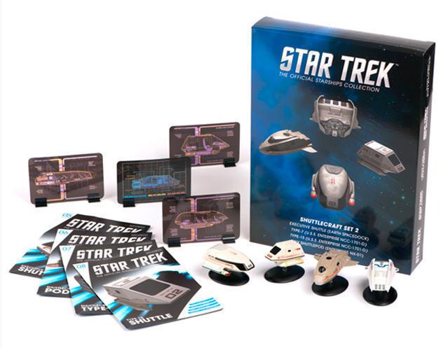Star Trek Shuttle Set 2 - 4 St 65533; (Mathe5533);ck- Metall Modell Star Trek Eaglemos neu ovp eng