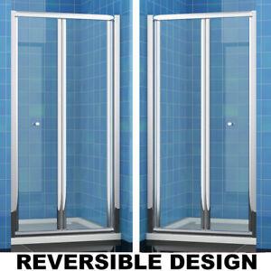 Bi Fold Shower Door Enclosure And Tray Glass Screen 700/760/800/860/900/1000mm