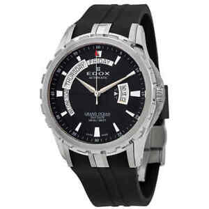 NEW-Edox-Grand-Ocean-Men-039-s-Day-and-Date-Automatic-Watch-83006-3CA-NIN