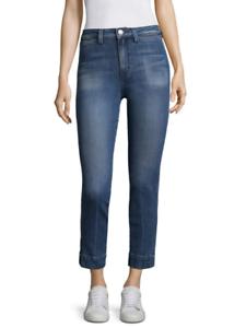 AMO Medium-Wash STARLIGHT AUDREY High-Rise Slim-Leg Stretch Jeans 24 NEW  290