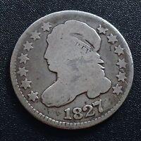 USA 1827 Dime Capped Bust 10 Cent Philadelphia Silber Selten 2057