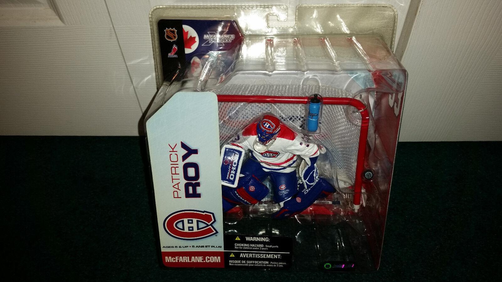 Patrick Roy NHL 5 Mcfarlane Toys biancao Jersey Montreal Canadiens Menta en paquete sellado