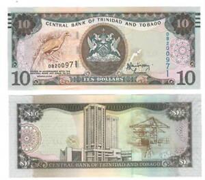 TRINIDAD-amp-TOBAGO-UNC-10-Dollars-2006-P-48b-Rambarran-Banknote-Paper-Money