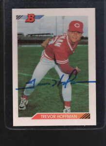 1992 BOWMAN #11 TREVOR HOFFMAN ROOKIE AUTHENTIC AUTOGRAPH SIGNATURE AZ9416
