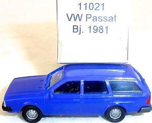 Vw-passat-BJ-1981-bleu-Mesureur-EUROMODELL-11021-h0-1-87-OVP-ho-1-a