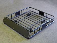220 Lbs Universal Black Steel Cargo Carrier Roof Rack Basket Cross Bar Car SUV