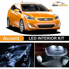8x LED White Light Interior Package Kit For 2012 - 2017 Hyundai Accent + Tool