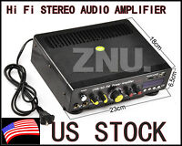 2 Channel Hi Fi Stereo Audio Amplifier For Both Car & Home Amp Usb+sd+fm Mp3
