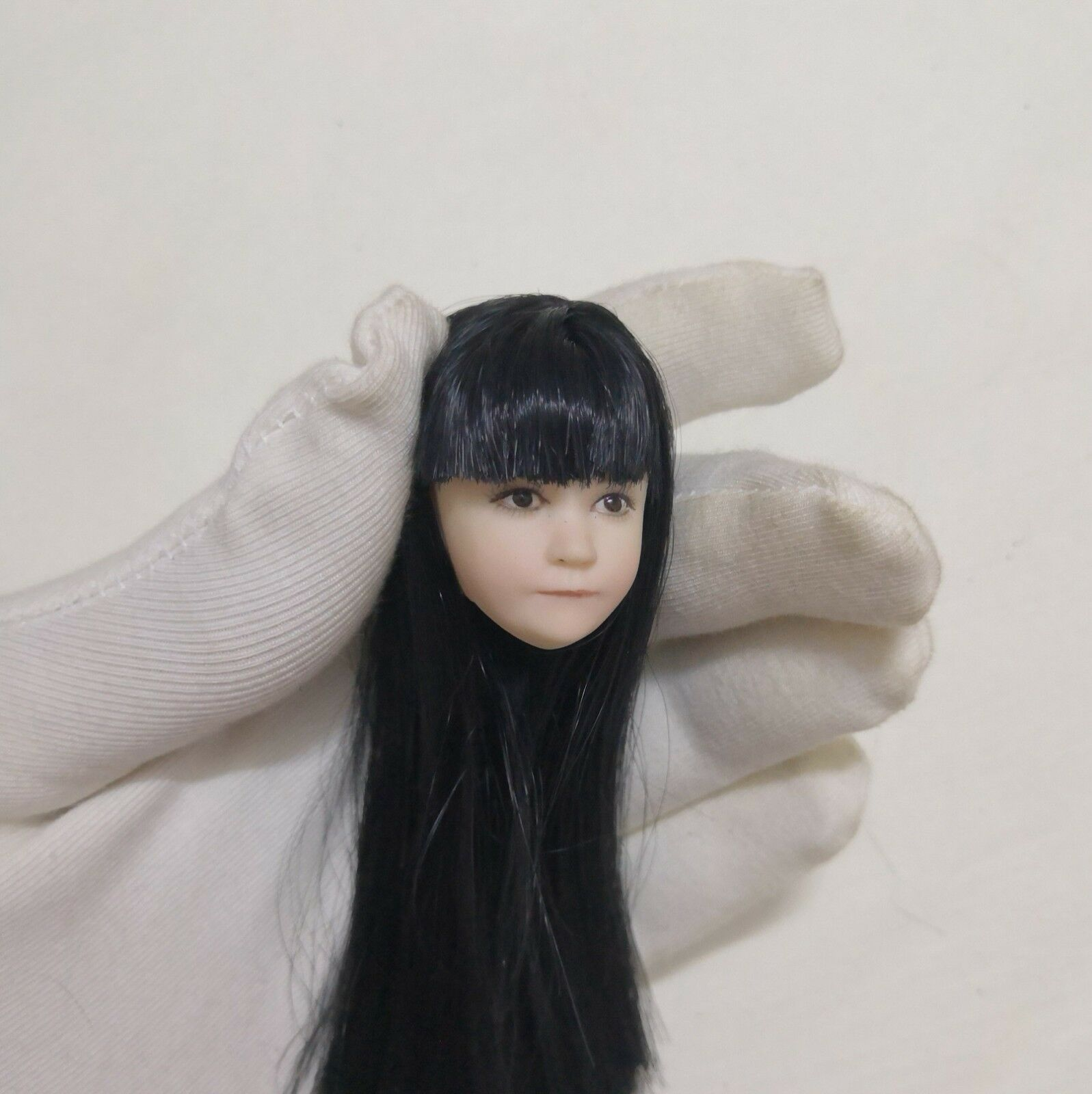 1 6 Little Girl  Head Sculpt Carving Model PVC Figure Fit 12  Female Body