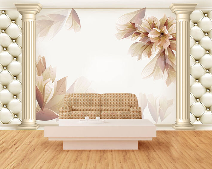 3D Flower decoration pattern Wall Paper Print Decal Wall Deco Indoor wall Mural