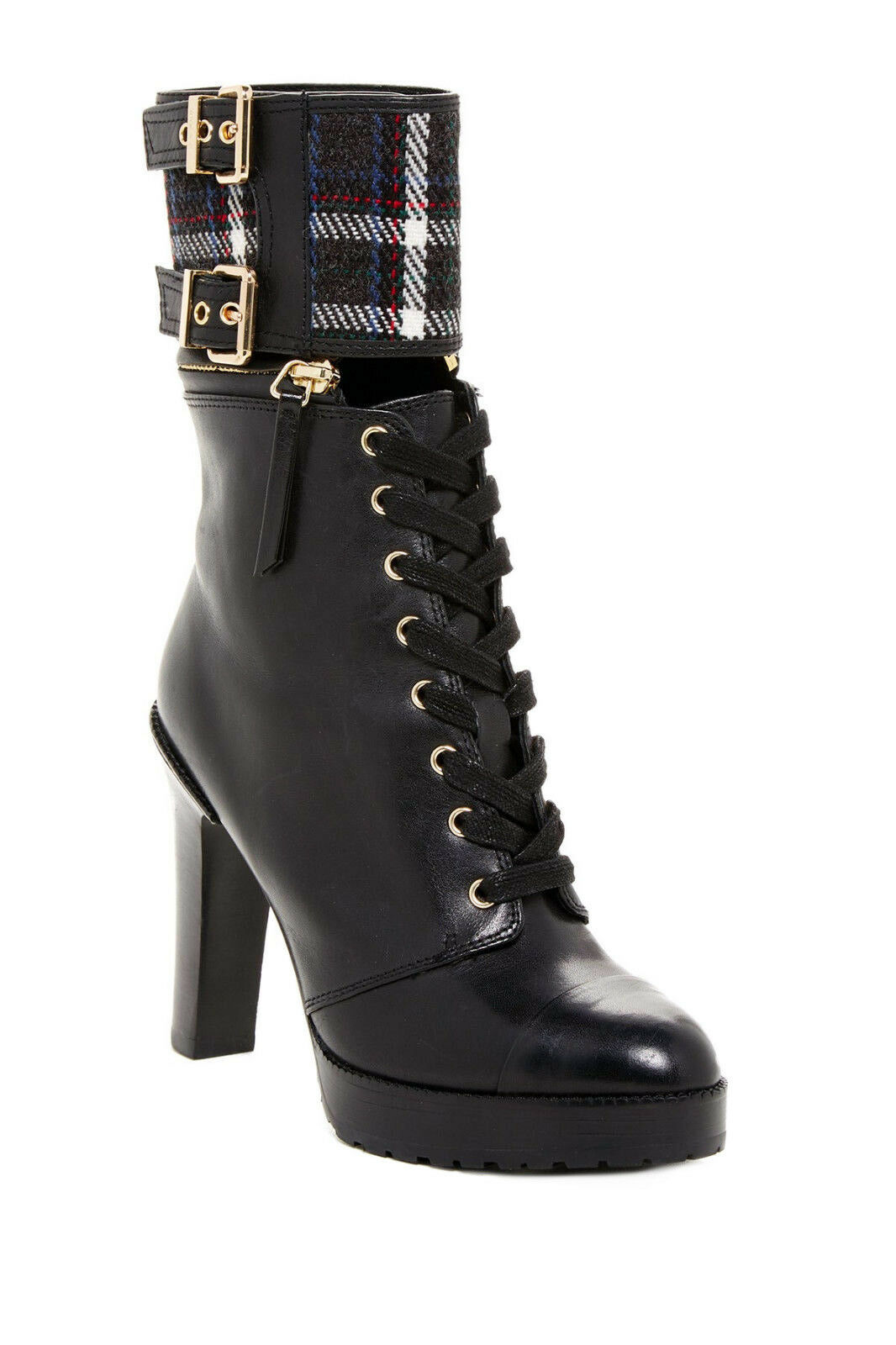 Diesel MOTORSAFARI KAPE Womens Fashion Heels Platform Black Leather  Bootie