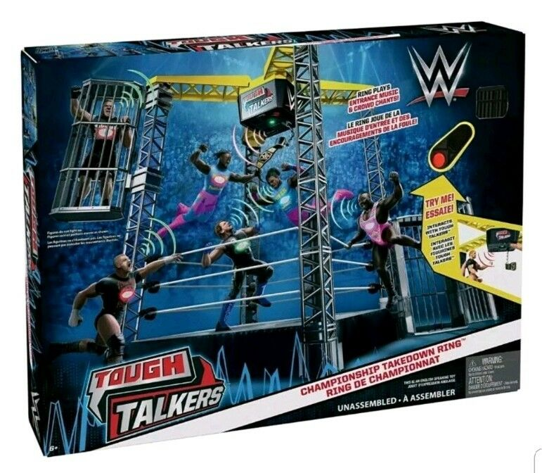 WWE Tough Talkers Championship Take Down Ring with sounds BRAND NEW Sealed box
