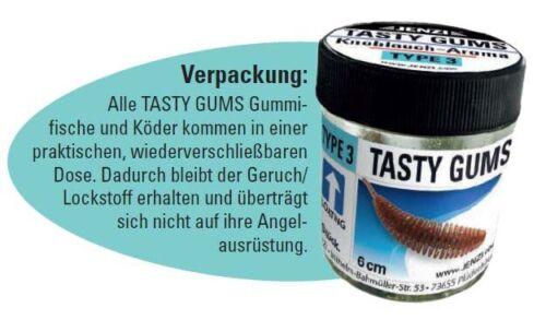 JENZI Tasty Gums Lockstoff Gummi-Köder Aroma schwimmend sinkend Dropshot Sbiro