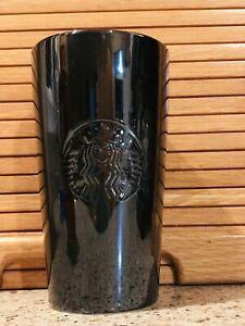 Starbucks-2019-Holiday-Travel-Tumbler-Ceramic-Black-Metallic-Christmas-Mug-NEW