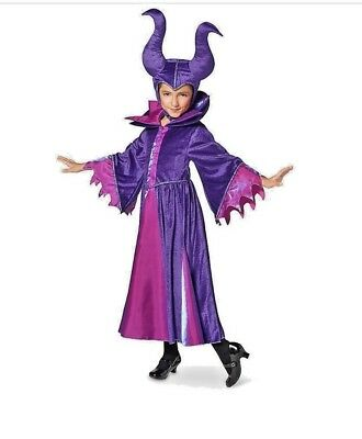 New Disney Sleeping Beauty Deluxe Descendants Maleficent Full Costume Size 7 8 Ebay