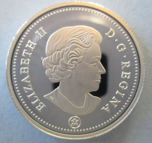 CANADA 2015 10 CENTS 99.99/% PROOF SILVER DIME HEAVY CAMEO COIN