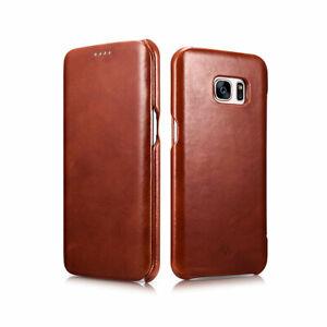 Novada-Genuine-Leather-Flip-Case-Cover-for-Samsung-Galaxy-S7-amp-S7-Edge