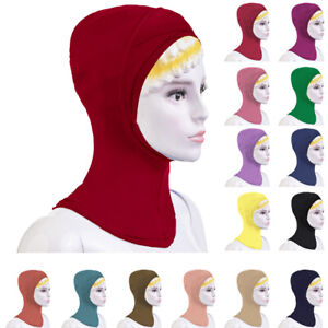 Muslim-Women-Under-Scarf-Hat-Cap-Turban-Neck-Cover-Headwear-Warp-Bonnet-India