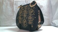 Burberry Bridle Stud Haymarket Shoulder Bag ‑ Black