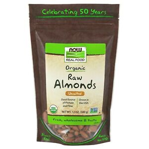 Now-Foods-Organic-Vegan-Raw-ALMONDS-Unsalted-12-oz-340g-Non-GMO