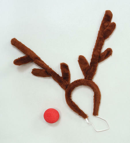 Rudolph Disguise Set Christmas Reindeer Fancy Dress Animal Costume Accessory