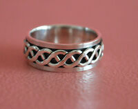 925 Sterling Silver Men Twist Celtic Spinning Wedding Ring Band - Celtic Spinner