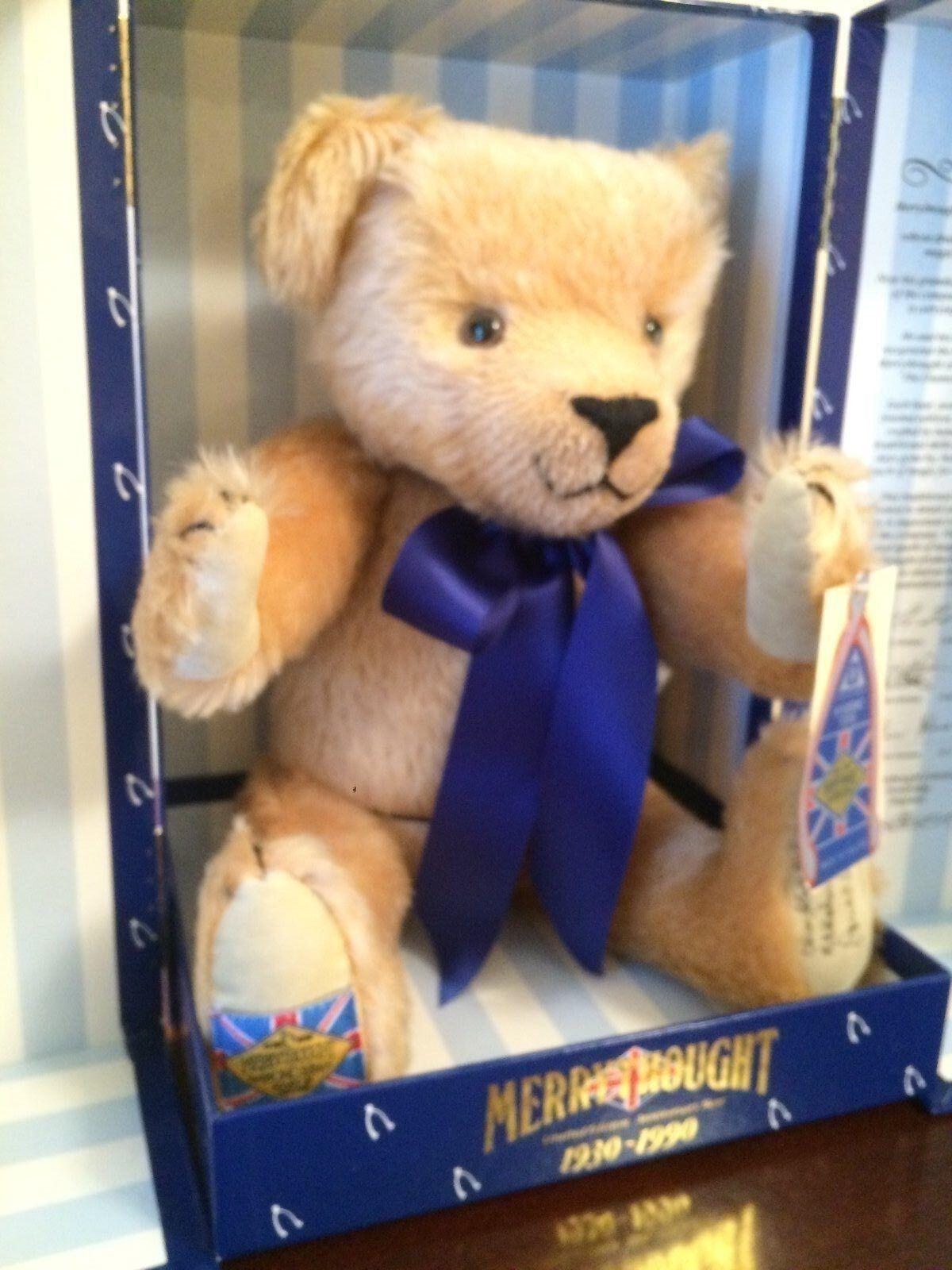 Merrythought Diamond Jubilee Teddy Bear Mohair Blonde 16