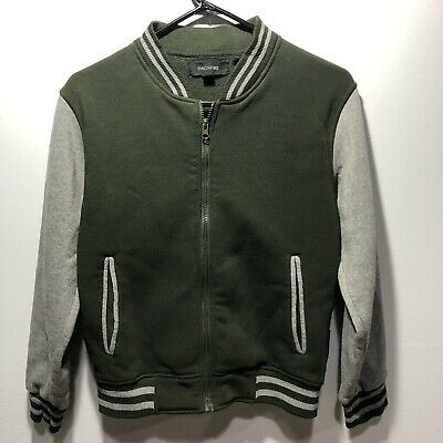 New Boys youth Ring of Fire quilted vest hoodie varsity jacket coat 10-18