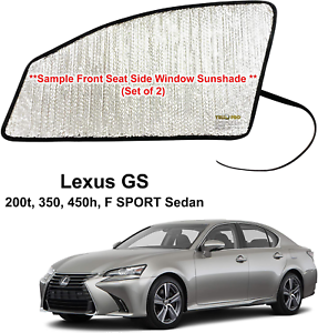 Set of 2 Custom Fit Automotive Reflective Front Seat Side Window Sunshade for 2019 Lexus ES350 ES300H Sedan