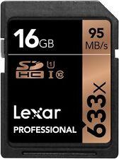 Lexar 16GB 633x Professional UHS-I U1 SDHC Class 10 High-Speed Pro Memory Card