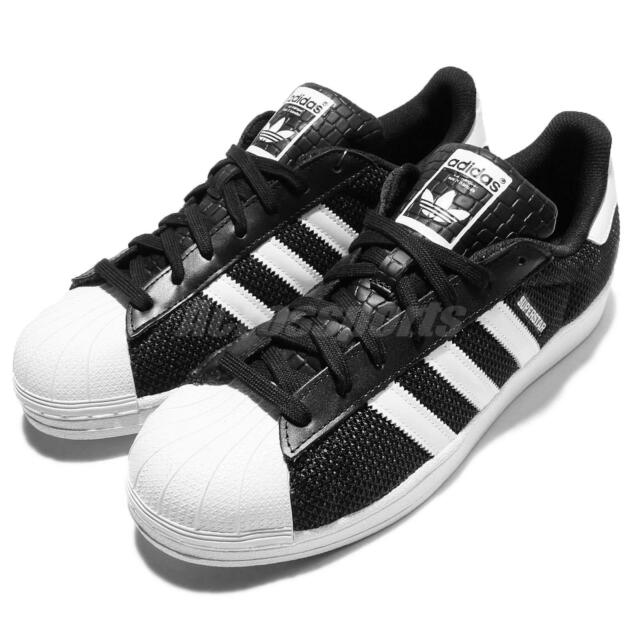 adidas Originals Superstar Breathable Knit Black White Mens Casual Shoes  S75963