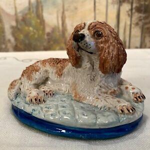 Vintage-Signed-Basil-Matthews-Spaniel-Ceramic-Figurine