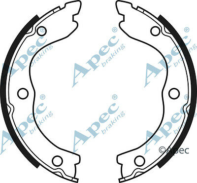 2.2 NISSAN X-TRAIL 2.0 2.5 REAR HAND BRAKE SHOES 2001-2007 ALL MODELS
