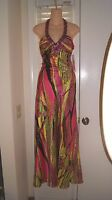 Exotic Jeweled Morgan Company Co Formal Evening Dress Sz 3/4 $179.00