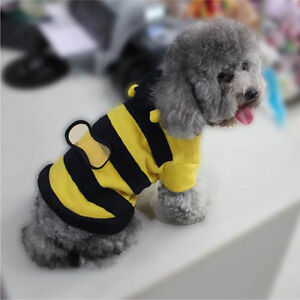 Pet-Hoodie-Clothes-Cute-Fancy-Puppy-Apparel-Costume-Cat-Dog-Coat-Outfit-Bee