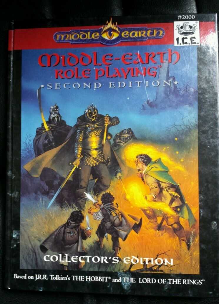 Collectors edition hardcover middle-earth roleplaying RPG  I.C.E nd 2E