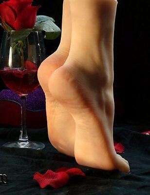 Sexy Frauen Füße Modelle 37 Silikon Weich Künstler Fuß Modell Neu