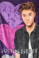 "Justin Bieber Heart Break Beach Towel 100% Cotton 30"" x 60"""