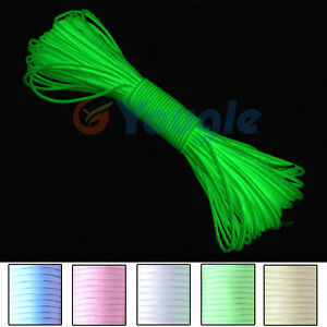 9-Strand-550-Luminous-Glow-in-the-Dark-Paracord-Parachute-Cord-25FT-50FT-100FT