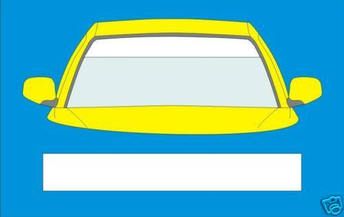 MATT WHITE WINDSCREEN BANNER 1350mm x 190mm  CAR  DECALS GRAPHICS  STICKERS5