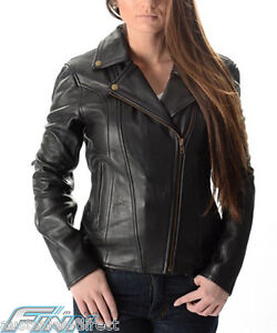 Ladies-Brando-Motorcycle-Leather-Jacket-A-Soft-Supple-Light-Cowhide-CE-Armour